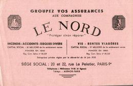 BUVARD ASSURANCE LE NORD RUE LE PELETIER A PARIS - Bank & Insurance