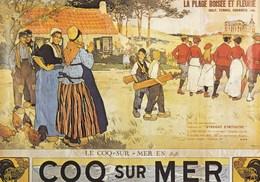 Postkaart De Haan, Coq Sur Mer, Reproductie Oude Affiche (pk42168) - De Haan