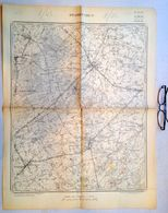 OUDE STAFKAART 20/7 Meting 1861 STADEN HOUTHULST WESTROZEBEKE OOSTNIEUWKERKE POELKAPELLE VIJFWEGEN SLEIHAGE Kaart S394 - Staden