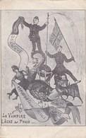 WW1 Humor Postkaart, La Vampire Lâche Sa Proie, Humour, Comic WW1 Postcard (pk42169) - Humour