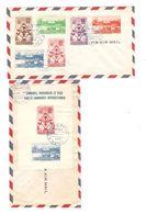 Exposition Internationale De Bruxelles 1958 TP Haiti Série + BF FDC C.Port Au Prince 22/7/1958 AP1541 - 1958 – Brussels (Belgium)