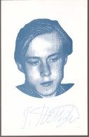 Autograph Ponomariov Ruslan, World Chess Champion. On Opposite Side Text And Chess Postmark - Historical Famous People