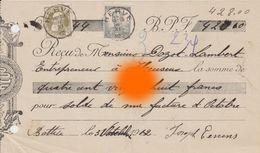 Battice ( Herve ) 1912 De JOSEPH EERRENS à DOZOT Entrepreneur HEUSEUX - Belgium
