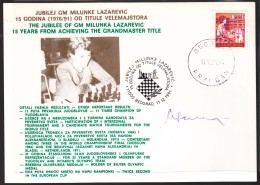 Autograph Milunka Lazarevic, Best Ever Yugoslav Woman Chess Player - Historical Famous People