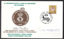 Autograph Igor Miladinovic GM, World Junior Chess Champion 1993 - Historical Famous People