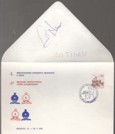 Autograph Jan Timian GM From Holland On The Back Of Special Cover From 1978 - Historical Famous People