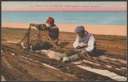 Types De Pecheurs Préparant Leurs Filet, C.1910s - ADLC CPA - Fishing