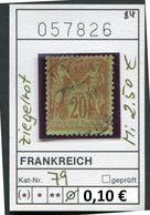 Frankreich - France - Francia -  Michel 79 Ziegelrot - Oo Oblit. Used Gebruikt - - 1876-1898 Sage (Type II)