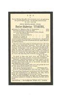 P 449. E.H. RENIER-H. TYSKENS - °KINROY 1856 /LUIK/EXEL/ALKEN/NEEROETEREN/DIETSCH-HEUR/COSEN/+CORTENBOSCH1930 - Images Religieuses