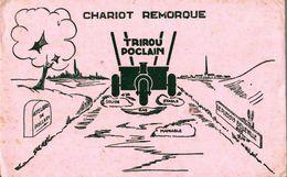 BUVARD  CHARRIOT REMORQUE TRIROU POCLAIN LE PLESSIS BELLEVILLE - Farm