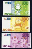 100 - 200 - 500 EURO, HABA, Type B, Scolaire, Spielgeld, Educativgeld, Play Money, UNC - EURO