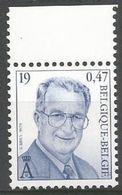 Belgium - 2000 King Albert II MNH **    Sc 1754 - Unused Stamps