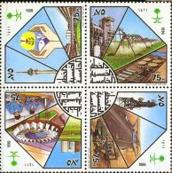 Saudi Arabia 1990 Industial 5-yr Plan Block Of 4 MNH Industry Research Development - Saudi Arabia