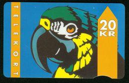 SO Telefonkarte Dänemark - De Danske Teleselskaber 20 KR - Papagei - Denmark