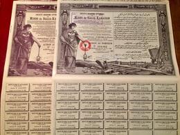 S.A.  OTTOMANE   Des  MINES   De  BALIA-KARAÏDIN  -----------   Deux  Actions - Mines