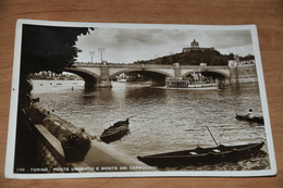 1318- Torino, Ponte Umberto E Monte Dei Cappuccini - 1938 - Bridges