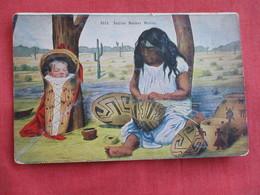 Indian Basket Maker  = Ref 2812 - Native Americans