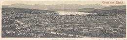 Zürich - Panorama-Litho-Doppelkarte - 1899      (P-103-70307) - ZH Zurich