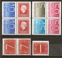 Pays-Bas Netherlands Small Collection Timbres De Carnet Booklet Stamps MNH ** - Stamps