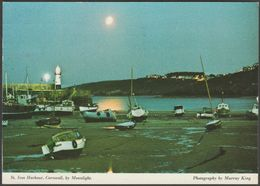 Partial Lunar Eclipse, St Ives Harbour, Cornwall, 1974 - Murray King Postcard - St.Ives