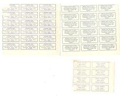 Document Etiquette-Label Trilingue-trilingual Parti Sans Laisser D'adresse-déjà-refusé Pour La Taxe AP1548 - Documents De La Poste