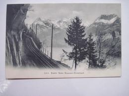 CPA  SUISSE Elektr Bahn Brunnen-Morschach 1905   T.B.E. - SZ Schwyz