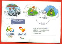 Brasil 2016.Envelope Passed The Mail. The Olympic Games In Rio. - Brazil