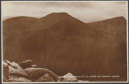 Cairn Toul & Sgòr An Lochan Uaine, Aberdeenshire, 1936 - Valentine's RP Postcard - Aberdeenshire