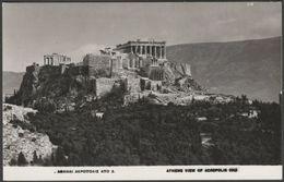 View Of The Acropolis, Athens, Greece, 1957 - ΥΔΑΠ RP Postcard - Greece
