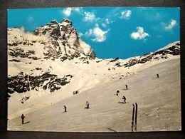 (FG.J38) CERVINIA BREUIL - MONTE CERVINO E PISTE DA SCI DI PLAN MAISON (VAL D'AOSTA) VIAGGIATA 1964 - Aosta