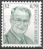 Belgium - 2000 King Albert II MNH **    Sc 1758 - Unused Stamps