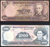 329-Nicaragua Lot De 5 Billets - Nicaragua