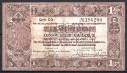 498-Pays-Bas Billet De 1 Gulden 1938 Série DD - [2] 1815-… : Kingdom Of The Netherlands