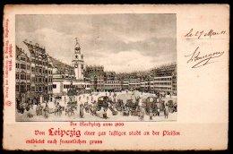 Allemagne, Leipzig, Des Marktplatz 1800 - Leipzig