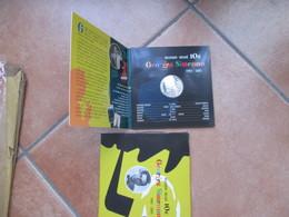 2003 Folder Georges Simenon 10 EURO Argento Emissione Ufficiale - Belgio
