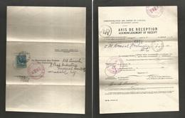 Canada. 1911. Avis De Reception. Montreal - Washington DC, USA. Fkd 5c Blue, Cds Receipt. Fine. - Canada