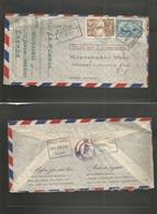 Canada. 1945 (1 Febr) White Horse, Yukon - USA, Chicago, Ill (15 Febr) Registered Air Multifkd Envelope. From Remote Are - Canada