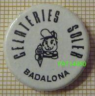 CREME GLACEE  GELATERIES SOLER  BADALONA ESPAGNE - Food