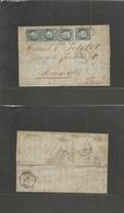 "Cuba. 1876 (22 Oct) La Havane - France, Marseille (14-15 Nov) Via ""Ligne B / Paquebot Fr Nº 1"" EL Full Text Fkd France.  - Unclassified"