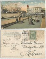 Brooklyn NYC Coney Isl. Witching Waves On Surf Av. Color PPC 23may1921 With Pilgrim C1  + Stamp Missed - Brooklyn