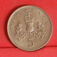 GREAT BRITAIN 5 PENCE 1980 -    KM# 911 - (Nº19919) - 1971-… : Decimal Coins
