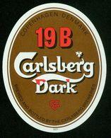 SO Etikett - Bier, Carlsberg Dark 19 B - Cerveza