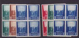 Vatican 1942 Inscribed MCMXLIVE,set,block Of Four MNH Sc 99/101,77/9       A287 - Nuovi