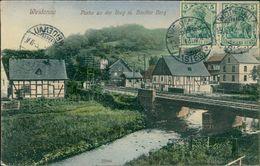 AK Siegen Weidenau, Partie An Der Sieg Mit Hardter Berg, O 1912 (28494) - Siegen