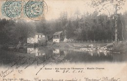 Côte D' Or - SEMUR - Aux Bords De L' Armançon - Moulin Charras - Verso Cachet Perlé Viserny - Semur