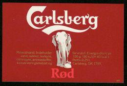 SO Etikett - Carlsberg Rød (Mineralwasser) - Labels
