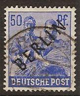 Berlin U 013a (o)  Sobrecargado Negro. 1948 - [5] Berlin
