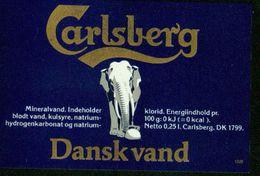 SO Etikett - Carlsberg Dansk Vand (Mineralwasser) - Labels