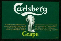 SO Etikett - Carlsberg Grape (Mineralwasser) - Labels