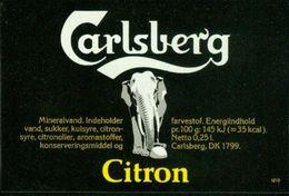 SO Etikett - Carlsberg Citron (Mineralwasser) - Labels